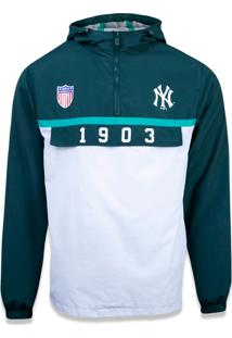 Jaqueta New Era Windbreak New York Yankees Verde / Branco