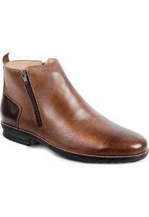 Bota Dress Boot Masculina Sandro Moscoloni Tiger Marrom