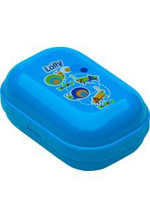 Saboneteira Infantil Lolly Zoo Azul Com 1 Unidade