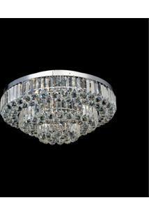 Plafon Sobrepor De Cristal Dijon 23Cmx65Cmbella Iluminação Transparente