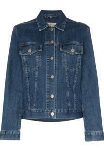 Burberry Jaqueta Jeans Rowledge - Azul