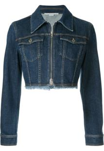Stella Mccartney Jaqueta Jeans Cropped - Azul