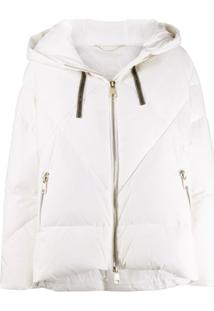 Liu Jo Hooded Puffer Jacket - Branco