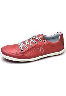 Sapatenis Masculino Top Franca Shoes Vermelho