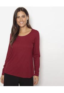 Blusa Canelada- Vermelho Escurohering