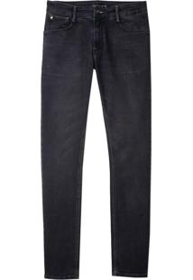 Calça Dudalina Jeans Washed Black Masculina (Jeans Black Medio, 44)
