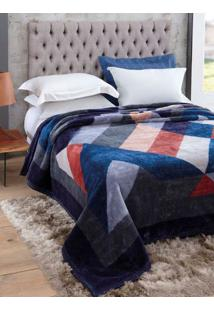 Cobertor King Jolitex Tradicional Azul