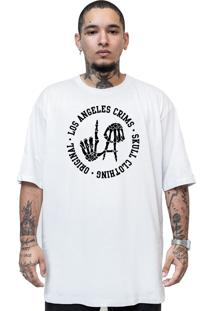 Camiseta Manga Curta Skull Clothing La Crims Branco