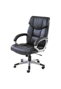 Cadeira Office Cartagena Pu Preto Base Nylon - 21292 Preto