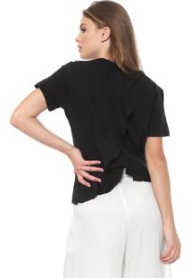 Camiseta Triton Babado Preta