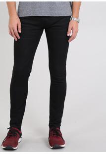 Calça Jeans Masculina Skinny Preta