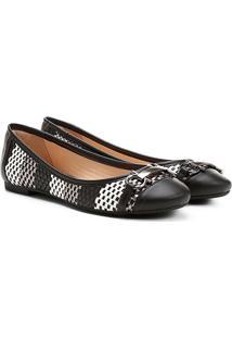 Sapatilha Shoestock Tressê Bridão - Feminino-Preto