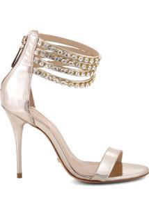 Sandália Glam Strass Golden | Schutz