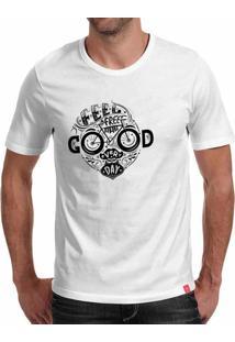 Camiseta Casual Sport Good Every Day Branca