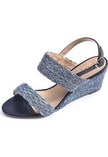 Sandália Anabela Scarpan Calçados Finos - 065V19 - Azul