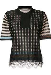 55852d7588 Camisa Pólo Preta Viscose feminina