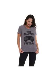 Camiseta Jay Jay Basica The Master System Chumbo Dtg