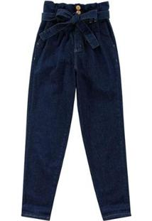 Calça Feminina Enfim Clochard Jeans - Feminino-Azul