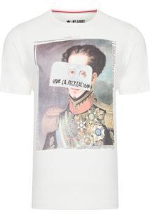 Camiseta Masculina Recreacion - Off White