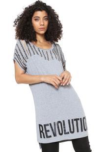 Maxi Camiseta Planet Girls Revolution Cinza