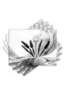 Jogo Americano - Flor Com 4 Peças - 785Jo