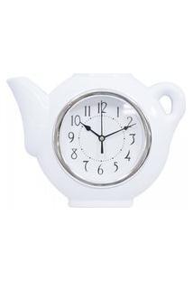 Relógio De Parede Cozinha Modelo Bule Chaleira Silencioso