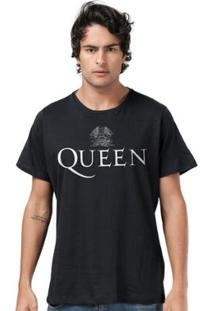 Camiseta Masculina Queen Logo Black - Masculino-Preto