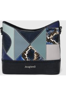 Bolsa Desigual Saco Bucket Bag Ayax Azul-Marinho - Azul Marinho - Feminino - Dafiti