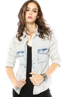 Camisa Jeans Lança Perfume Chemise Azul