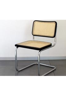 Cadeira Cesca (Sem Braço) Ebanizada - Cromada