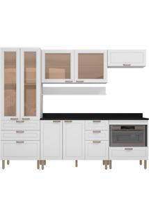Cozinha Modulada 7 Peças Com Tampo E Nevada 5684Vdtp-Multimóveis - Branco Premium