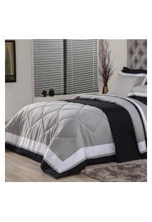 Edredom King Plumasul Soft Comfort 280X260Cm Microfibra Cinza