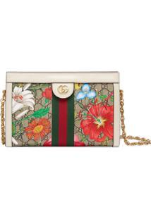 Gucci Small Ophidia Flora Shoulder Bag - Branco
