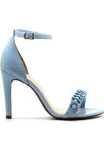Sandália Royalz Lisa Salto Alto Luiza Feminino - Feminino-Azul