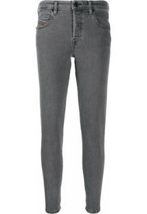 Diesel Calça Jeans Skinny - Cinza
