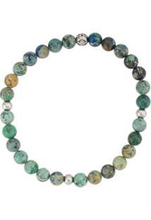 Nialaya Jewelry Pulseira Redonda De Contas - Verde
