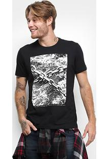 Camiseta Ellus Route United As One Masculina - Masculino-Preto
