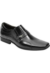 Sapato Social Escrete Masculino - Masculino-Preto