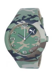 5e8ffc8b629d3 ... Relógio Analógico Puma 96204M - Masculino - Verde/Cinza Esc -11%  Centauro