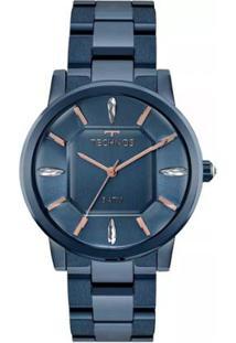 cd48d11bbda47 R  559,90. Zattini Relógio Azul Feminino Unissex Technos ...