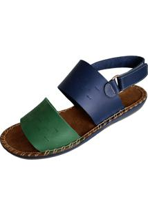 Sandália Scarpe Velcro Verde