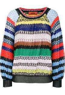 Missoni Suéter De Crochê Listrado - Estampado