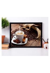 Quadro Decorativo Coffee Preto - 30X40Cm
