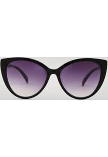 Óculos De Sol Gatinho Feminino Oneself Preto