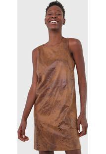 Vestido Desigual Curto Vania Caramelo