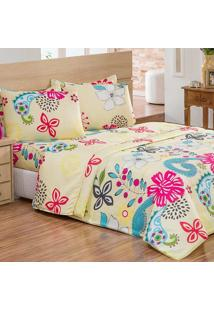 Edredom Casal Casuale Floral