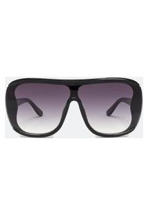 Óculos De Sol Feminino Modelo Máscara | Accessories | Preto | U