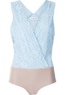 Olympiah Body Petale Rendado - Azul