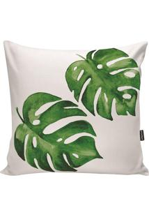 Capa Para Almofada Impermeável- Branca & Verde- 45X4Stm Home