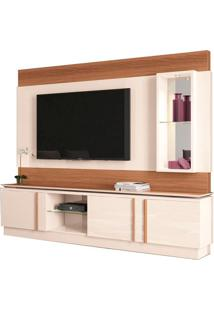 "Estante Home Para Tvs Até 70"" Vértice Off White / Nature"